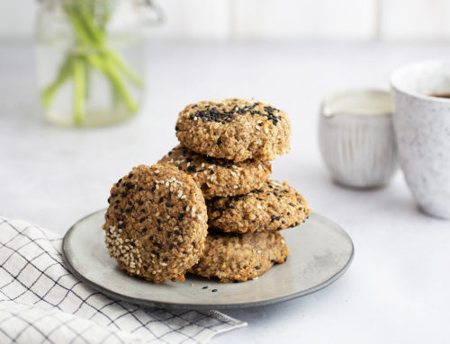 Tahini maple breakfast cookies (vegan, gluten free)